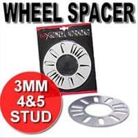 WHEEL SPACER SHIMS 3MM 4 & 5 STUD BOLT UNIVERSAL SPACERS